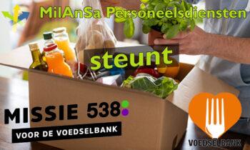 MilAnSa Personeelsdiensten steunt de Voedselbank